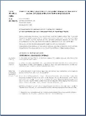 Form SPE - Application for dissolution of civil partnership, 2 years non-cohabitation