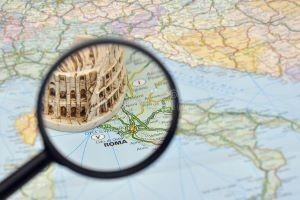 rome-italy-map-miniature-souvenir-colosseum-14298631