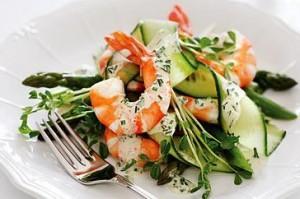Prawn and Asparagus Salad