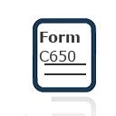Form C650